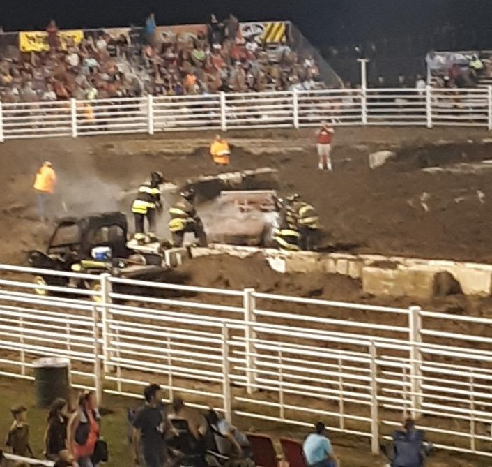 Mud Slinging Action At Interstate Fair And Rodeo